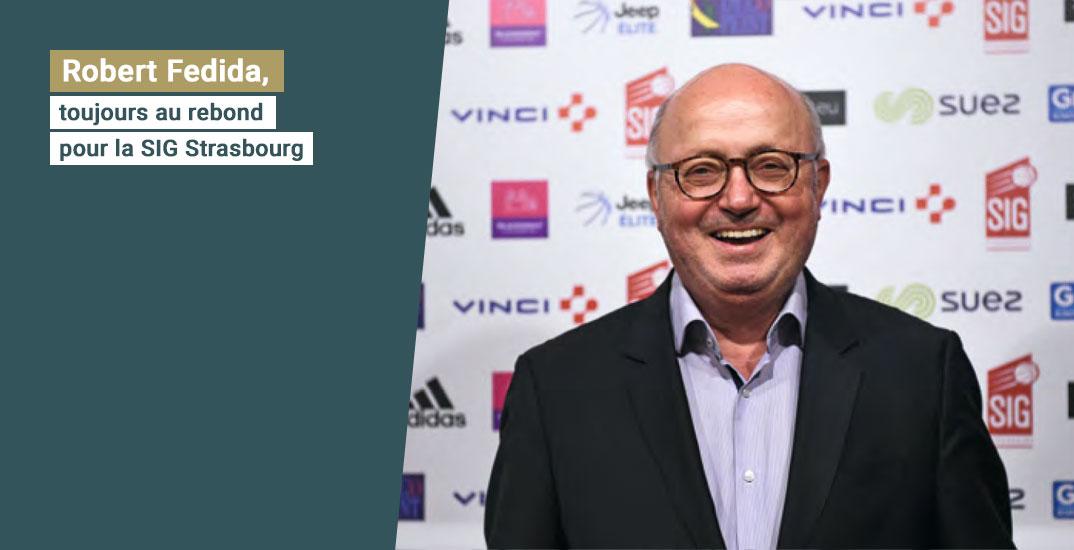 Robert Fedida, toujours au rebond pour la SIG Strasbourg